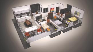 Type A 3D Render: 3 Bedrooms, 158.9 square metres / 1,711 square feet