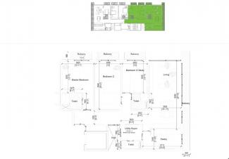 Type A Floor Plan: 3 Bedrooms, 158.9 square metres / 1,711 square feet